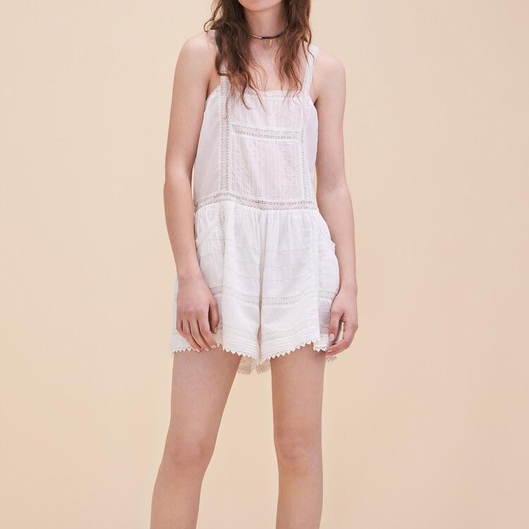 Combishort en dentelle : Jupes & Shorts couleur ECRU