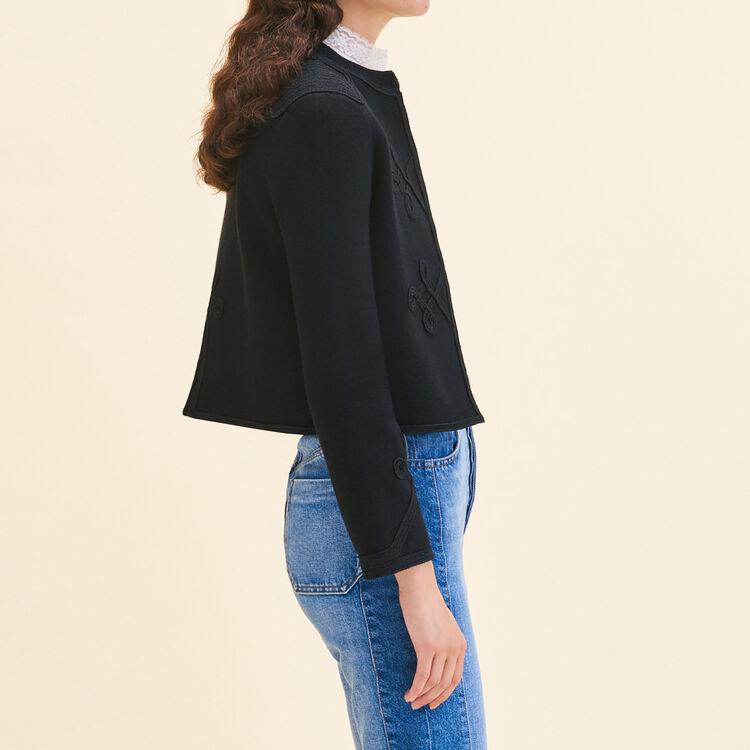 Cardigan avec passementeries : Pulls & Cardigans couleur Black