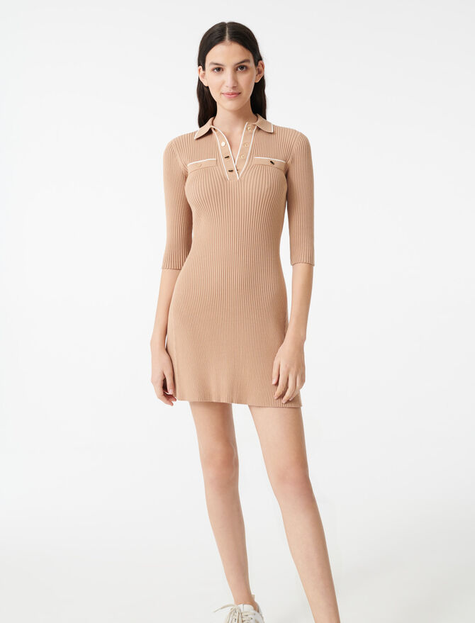 Knit polo dress - Dresses - MAJE