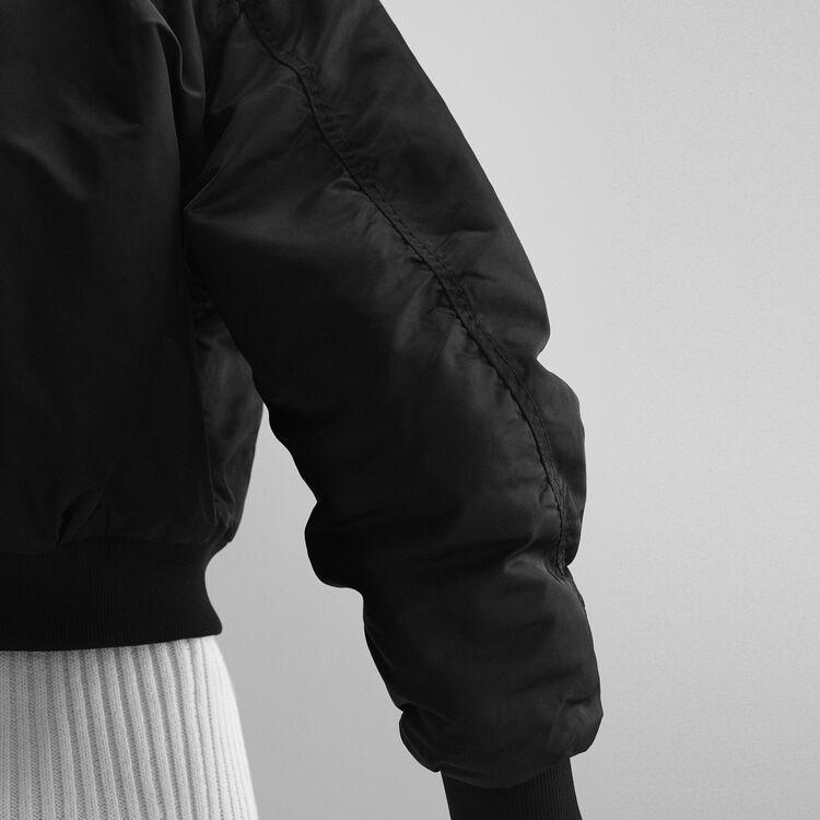 Bomber court et réversible : Blousons & Vestes couleur Black