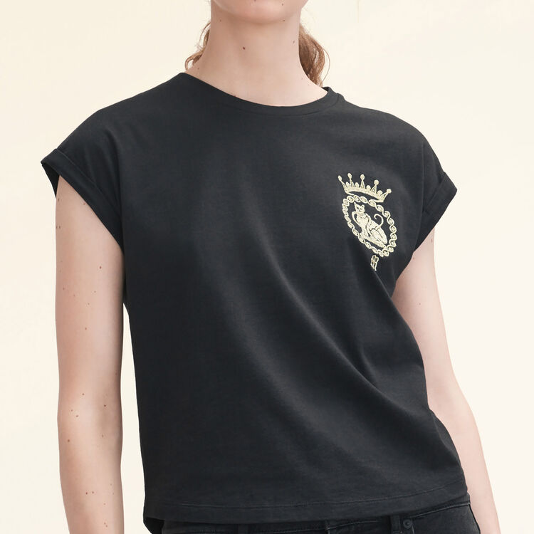 Tee-shirt en coton - Voir tout - MAJE