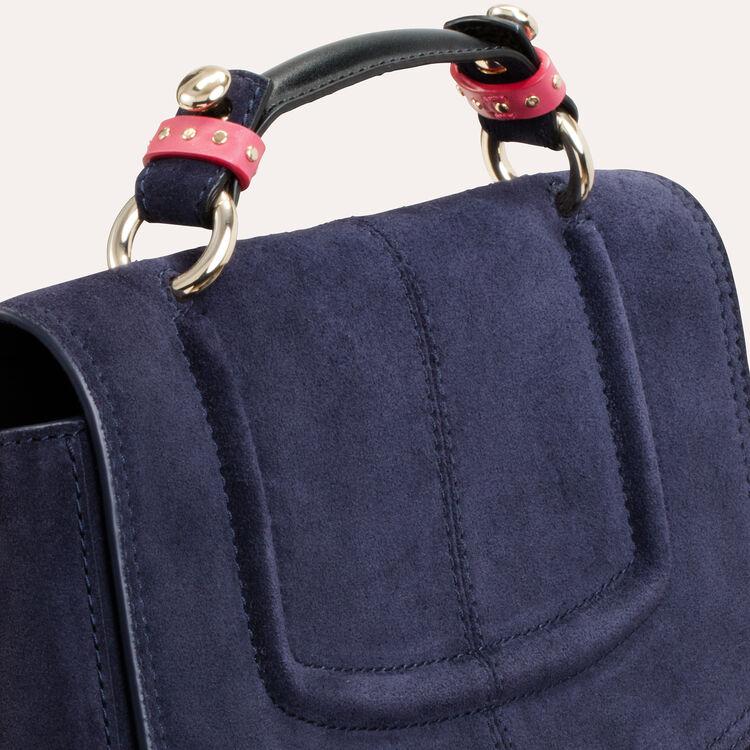 Mini satchel in two-tone suede : LDance bags color Navy