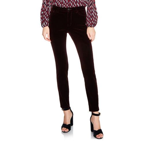 Jean 5 poches en velours : Pantalons & Jeans couleur BORDEAUX