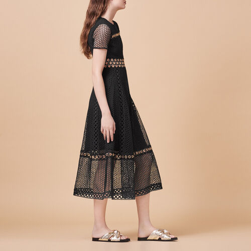 Long embroidered dress : Dresses color Black 210