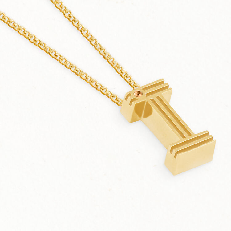 Necklace with initial pendant : Jewelry color GOLD