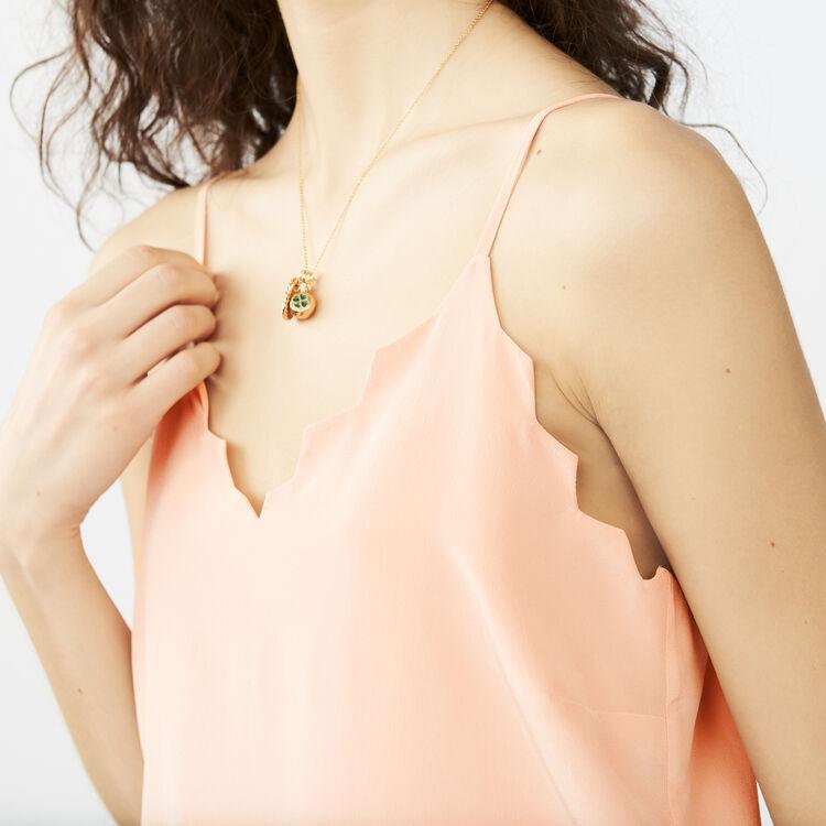 Caraco en crêpe : Tops couleur Rose