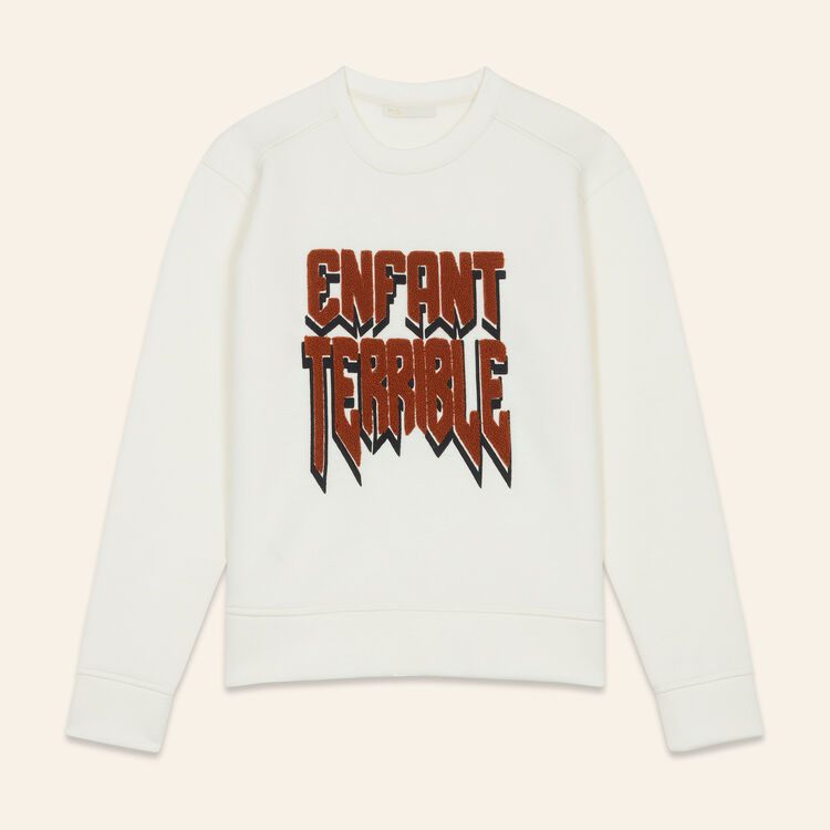 Sweat-shirt en Néoprène : null couleur ECRU