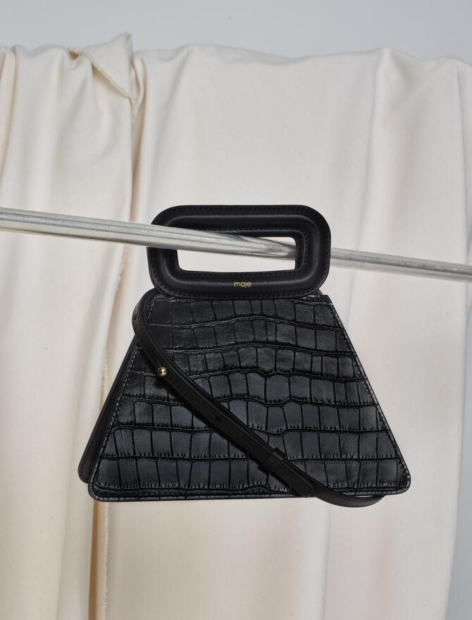 Sac pyramide en cuir effet croco - Collection hiver - MAJE