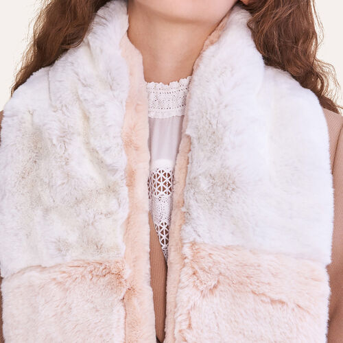 Two-tone faux fur scarf : Accessories color Two-Tone
