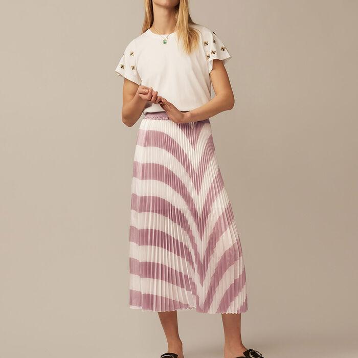 Jupe longue plissée : Jupes & Shorts couleur LILA