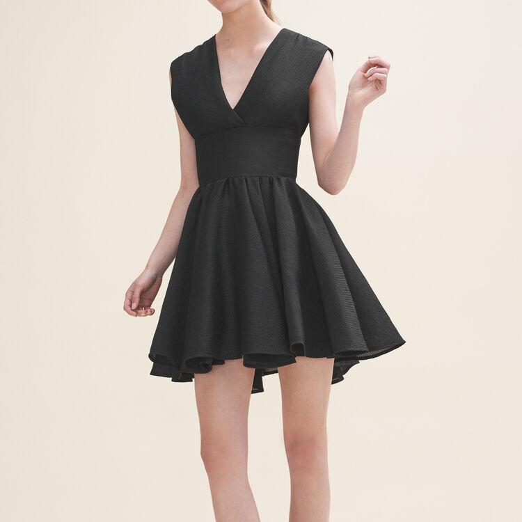 Robe patineuse sans manches : Robes couleur Black