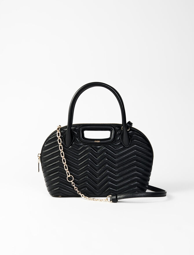 Quilted leather handbag -  - MAJE