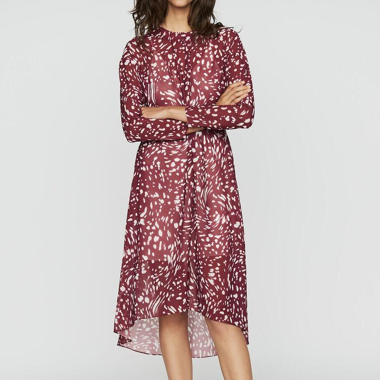 Robe asymétrique imprimée avec drapé : Robes couleur IMPRIME