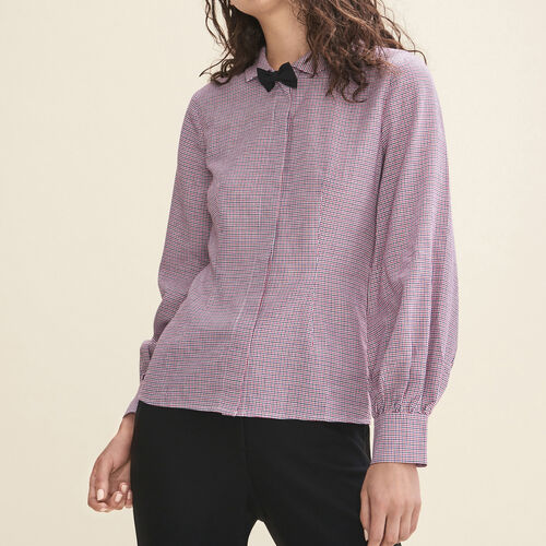 Micro-checked shirt - Tops - MAJE