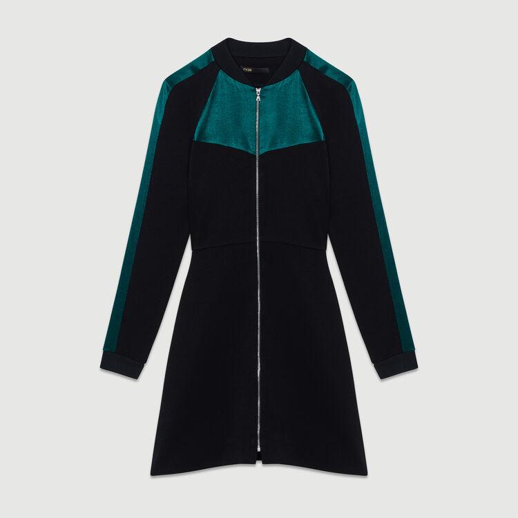 Robe-teddy bicolore : Prêt-à-porter couleur Black