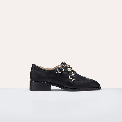 Buckled shoes with studs : Accessoires color Black 210