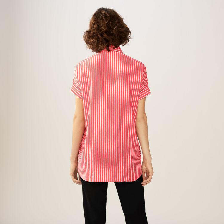 Chemise à rayures avec lavallière : Chemises couleur Rayure