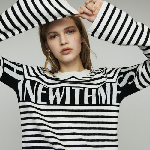 Striped sailor sweater : New in : Summer Collection color ECRU