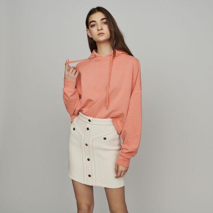 Short tweed-style skirt : Skirts & Shorts color Ecru