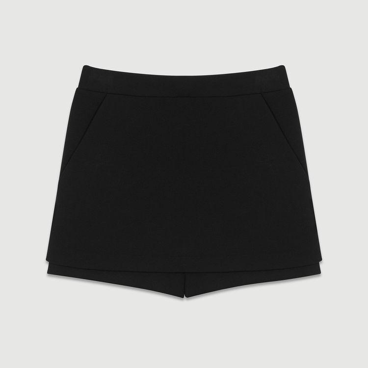 Short-jupe en crêpe : Jupes & Shorts couleur Black