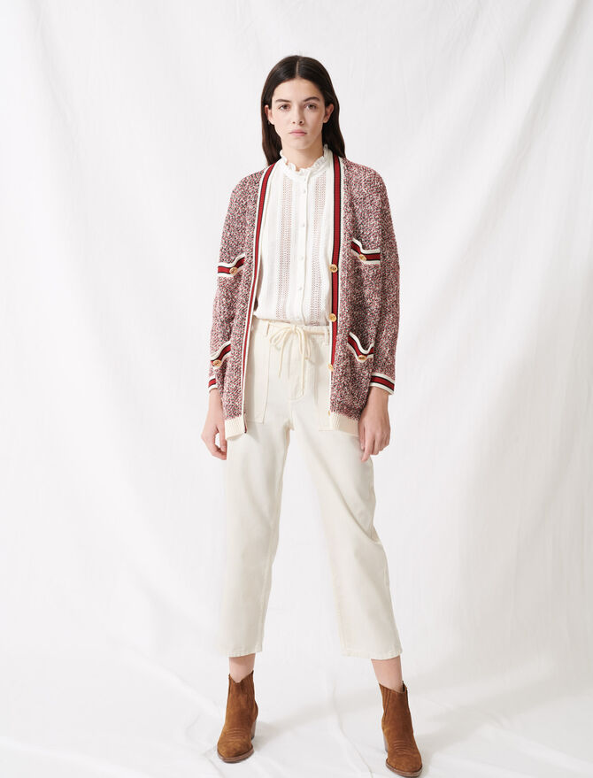 Fancy knit cardigan - Pullovers & Cardigans - MAJE