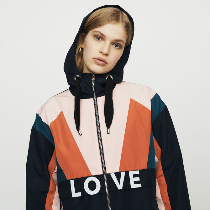 Multicolored windproof jacket - See all - MAJE