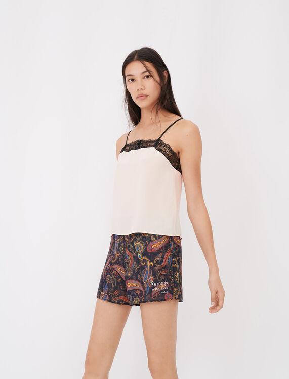 Print pyjamas with lace kit - First stone selection - MAJE