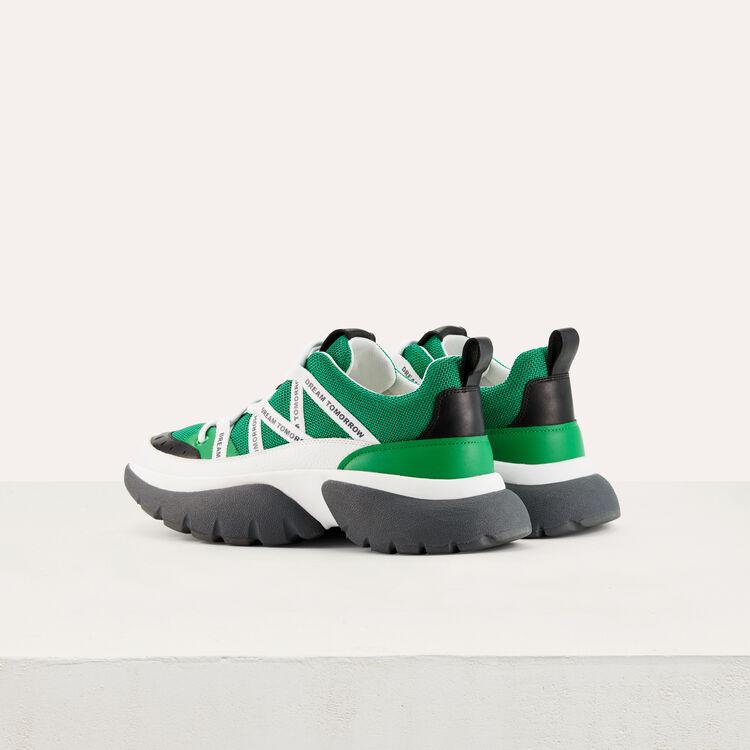 Sneakers W20 urbaines en nylon : Sneakers couleur Vert