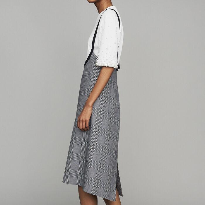 Robe à bretelles en jacquard : Nouvelle Collection couleur CARREAUX