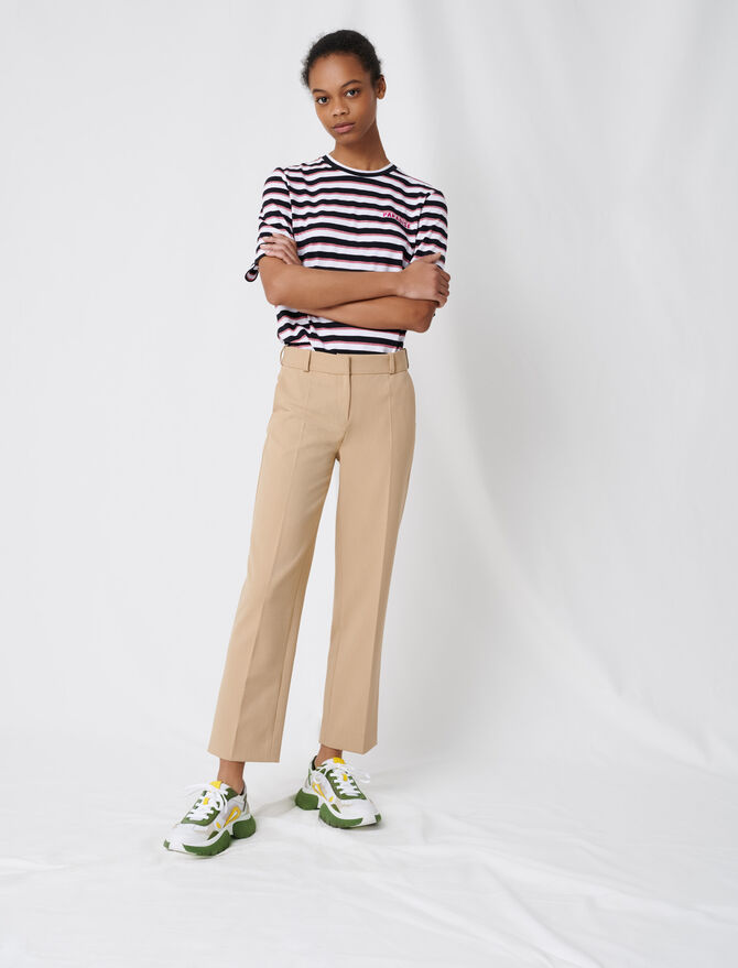 Beige tailored trousers - Trousers & Jeans - MAJE