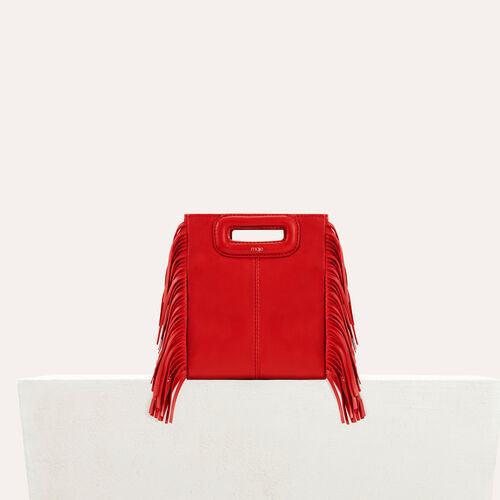 Fringed suede M minibag : Shop by color RED