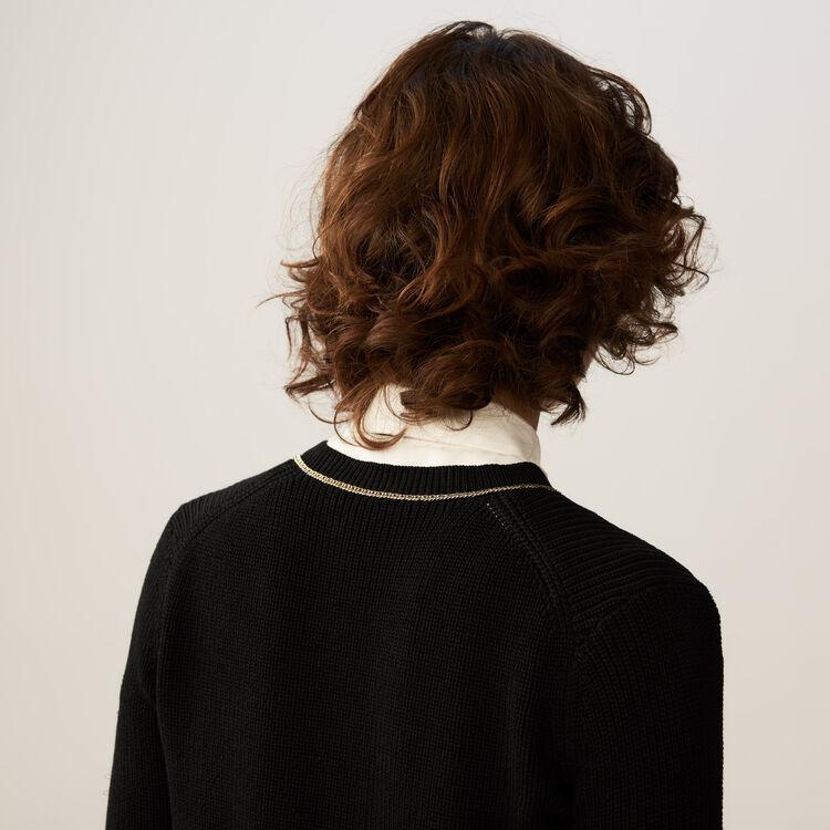Gilet fin en coton mélangé : Maille couleur Black