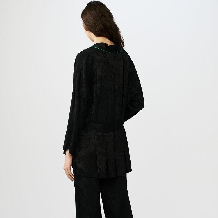 Veste esprit kimono en jacquard : Vestes couleur Black