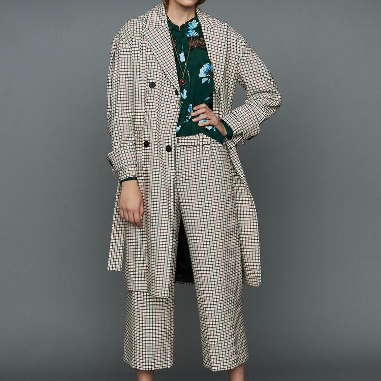 Manteau droit à carreaux : Prêt-à-porter couleur CARREAUX