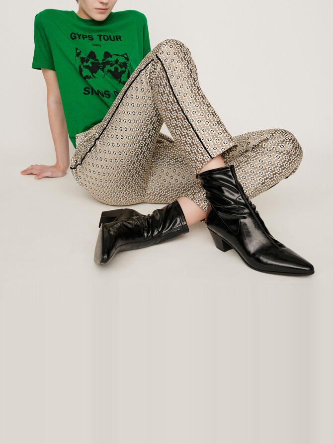 Pantalon en jacquard Lurex - Pantalons & Jeans - MAJE