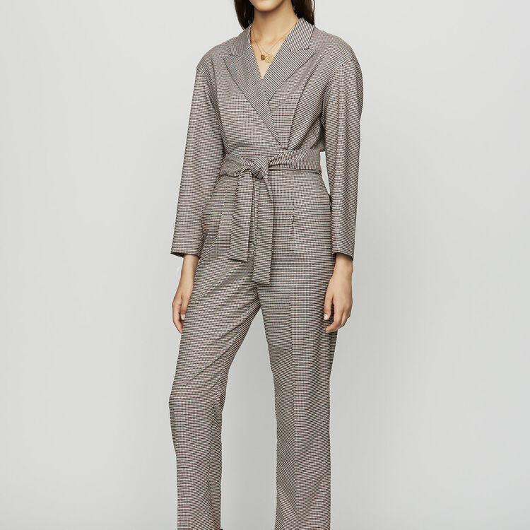Combinaison-pantalon à carreaux : Pantalons couleur CARREAUX