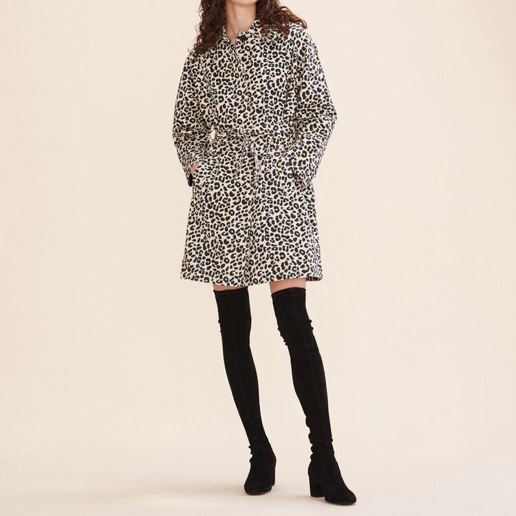 Manteau imprimé léopard : Manteaux couleur IMPRIME
