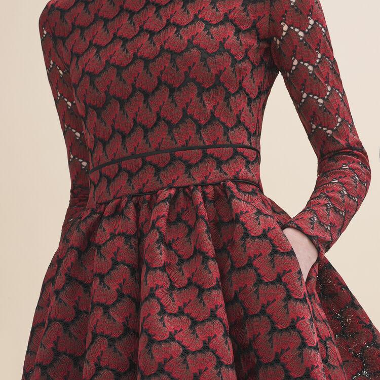 Robe en dentelle contrecollée : Robes couleur IMPRIME