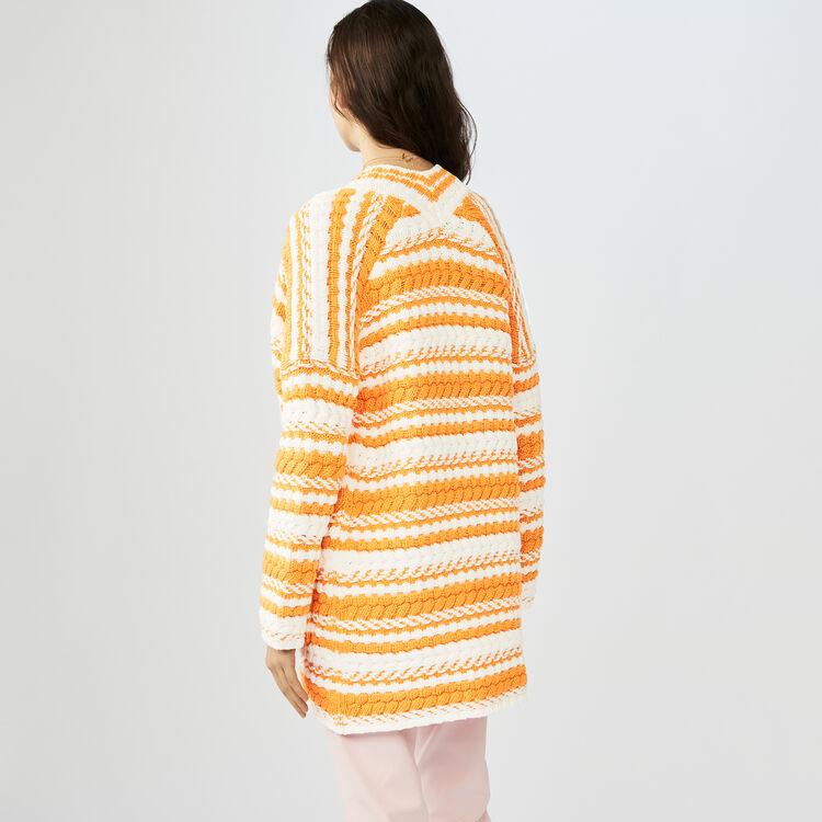 Cardigan oversize en maille bicolore : Maille couleur MULTICOLOR