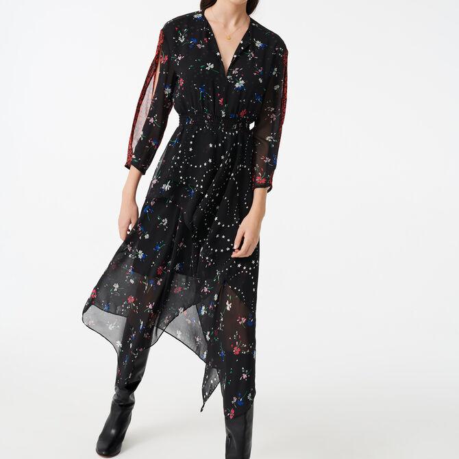 Robe-foulard en mix d'imprimés - Vente privée personnel 20 - MAJE