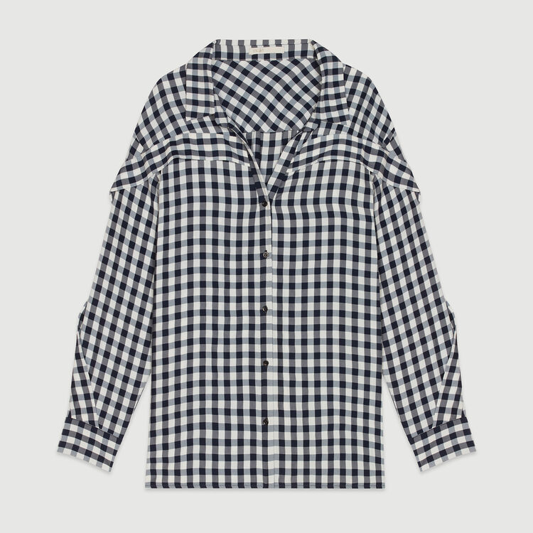 Shirt with vichy print : Tops & Shirts color CARREAUX