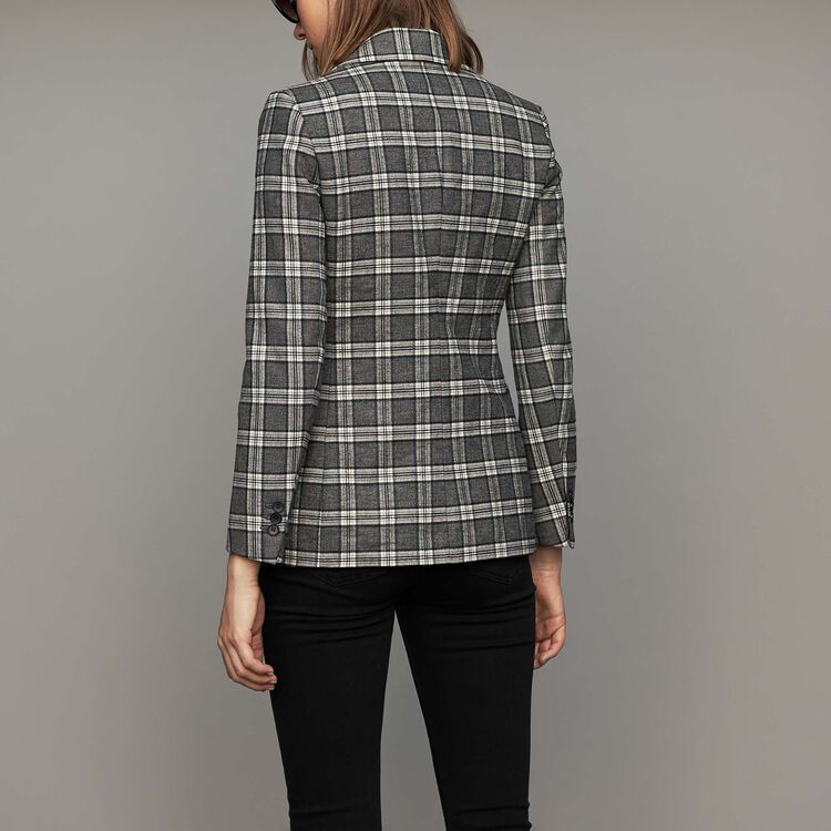 Veste de tailleur à carreaux : Vestes couleur CARREAUX