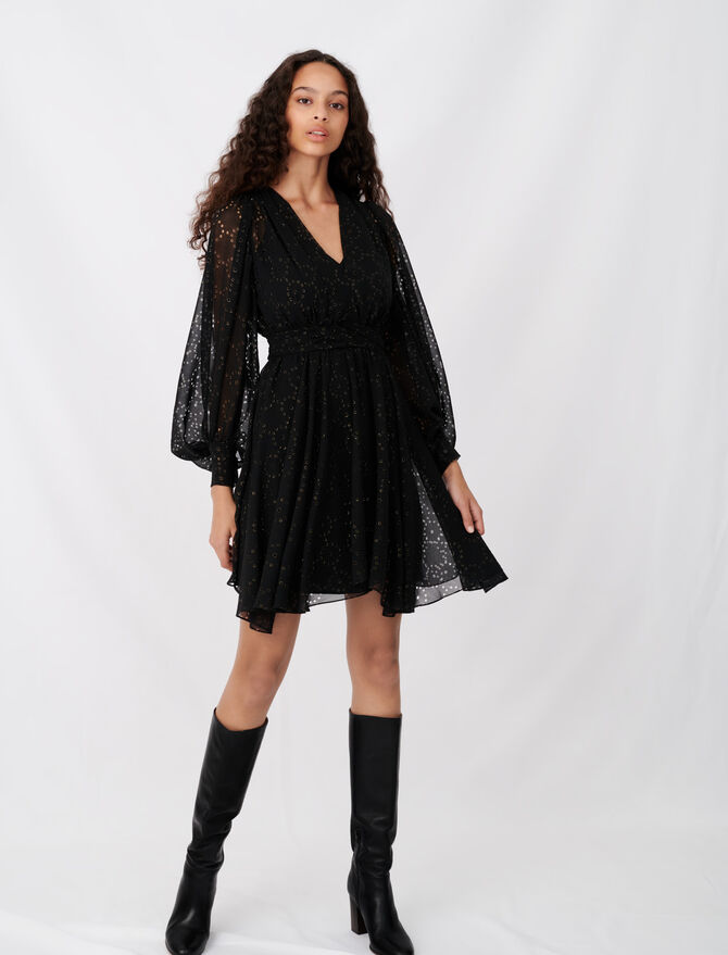 Muslin dress with openwork designs - All the collection - MAJE