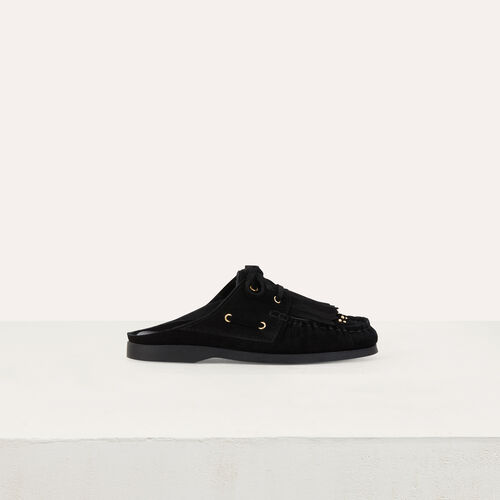Float shoes in suede : Flat shoes color Black