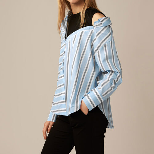 Unstructured striped shirt : Shop by color Blue Sky