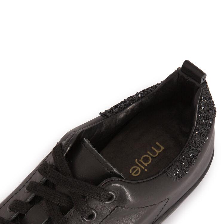 Basket en cuir avec strass au dos : Accessoires couleur Black