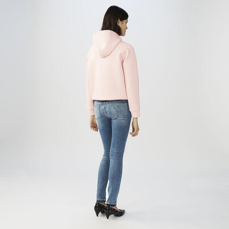 Jean skinny délavé : Jeans couleur Denim