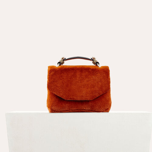Faux fur evening bag : LDance bags color Caramel