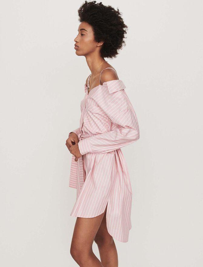 Robe-chemise oversize rayée - Robes - MAJE