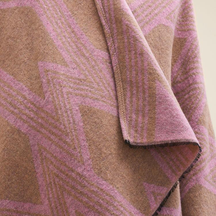 Poncho avec impression M : Accessoires couleur ROSE PALE